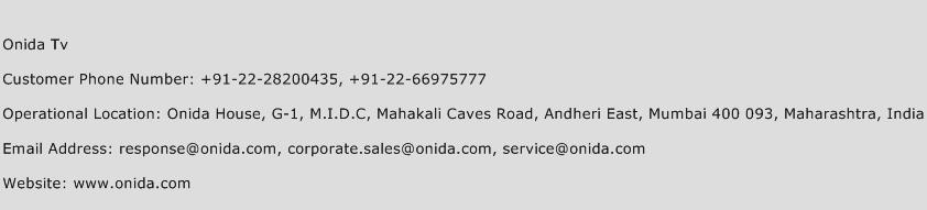 Onida Tv Phone Number Customer Service