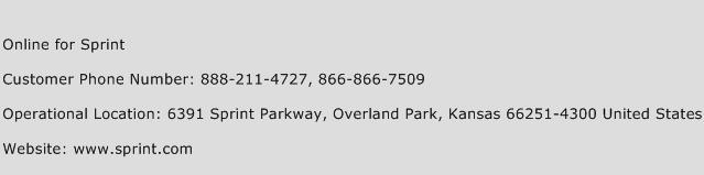 Online for Sprint Phone Number Customer Service