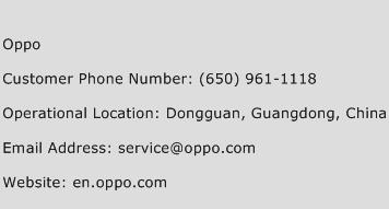 Oppo Phone Number Customer Service