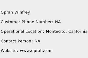 Oprah Winfrey Phone Number Customer Service