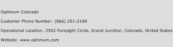 Optimum Colorado Phone Number Customer Service