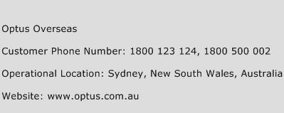 Optus Overseas Phone Number Customer Service