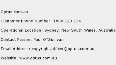 Optus.com.au Phone Number Customer Service