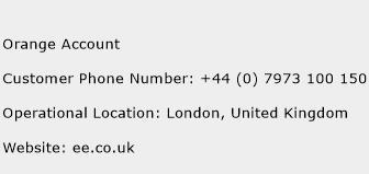 Orange Account Phone Number Customer Service