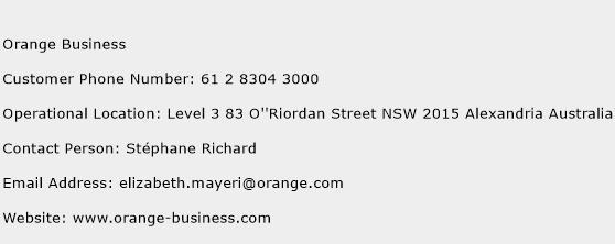 Orange Business Phone Number Customer Service