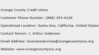 Orange County Credit Union Phone Number Customer Service