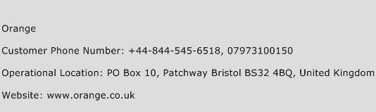 Orange Phone Number Customer Service
