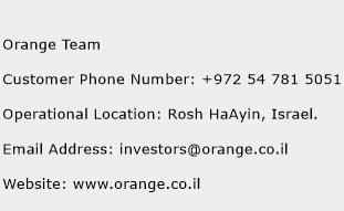 Orange Team Phone Number Customer Service