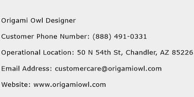 Origami Owl Designer Phone Number Customer Service