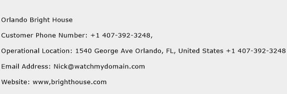 Orlando Bright House Phone Number Customer Service