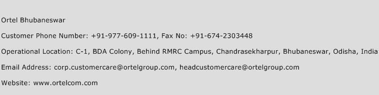 Ortel Bhubaneswar Phone Number Customer Service