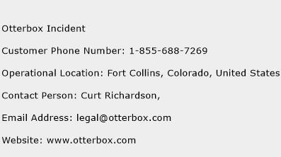Otterbox Incident Phone Number Customer Service