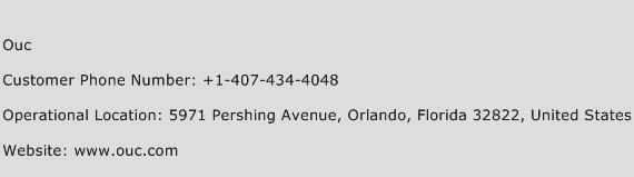 Ouc Phone Number Customer Service