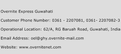 Overnite Express Guwahati Phone Number Customer Service