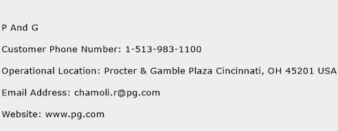 P And G Phone Number Customer Service