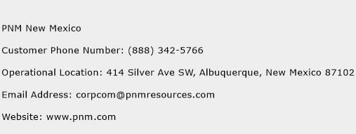 PNM New Mexico Phone Number Customer Service