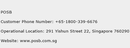 POSB Phone Number Customer Service