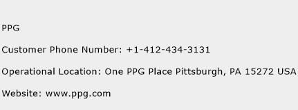 PPG Phone Number Customer Service