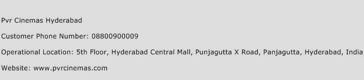 PVR Cinemas Hyderabad Phone Number Customer Service