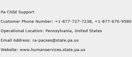 Pa Child Support Phone Number Customer Service