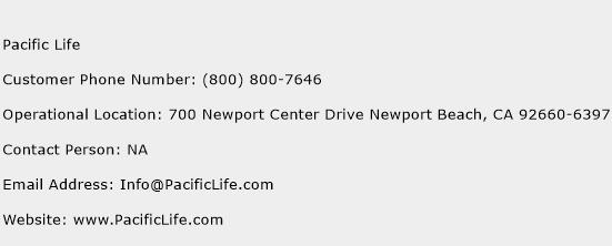 Pacific Life Phone Number Customer Service