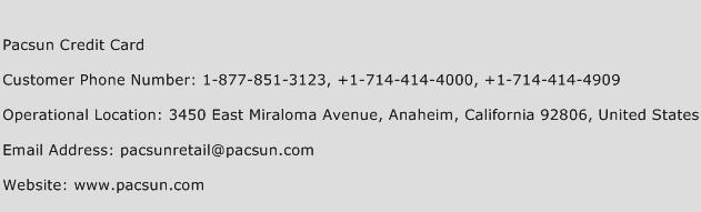 Pacsun Credit Card Phone Number Customer Service