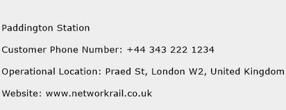 Paddington Station Phone Number Customer Service