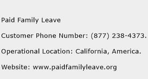 Paid Family Leave Phone Number Customer Service