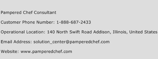 Pampered Chef Consultant Phone Number Customer Service