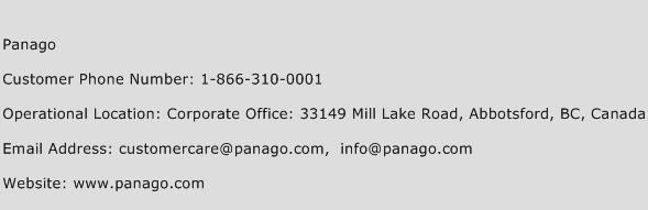 Panago Phone Number Customer Service