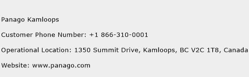 Panago Kamloops Phone Number Customer Service