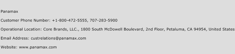 Panamax Phone Number Customer Service