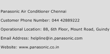 Panasonic Air Conditioner Chennai Phone Number Customer Service