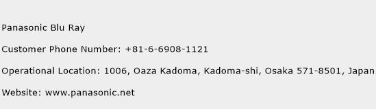Panasonic Blu Ray Phone Number Customer Service