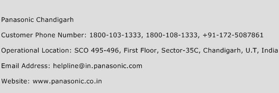 Panasonic Chandigarh Phone Number Customer Service