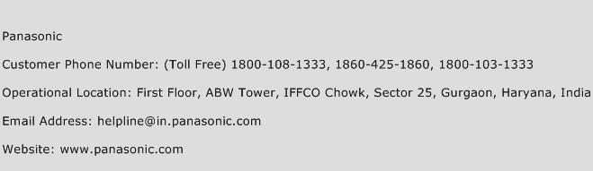 Panasonic Phone Number Customer Service