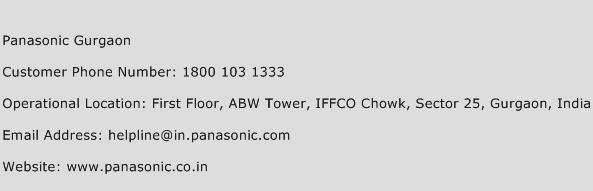 Panasonic Gurgaon Phone Number Customer Service
