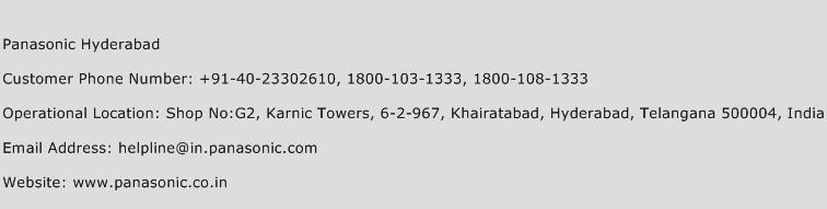 Panasonic Hyderabad Phone Number Customer Service