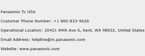 Panasonic Tv USA Phone Number Customer Service