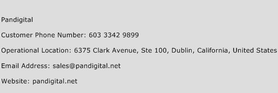 Pandigital Phone Number Customer Service