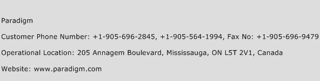 Paradigm Phone Number Customer Service