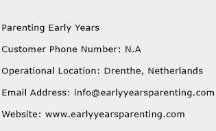 Parenting Early Years Phone Number Customer Service