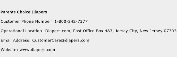 Parents Choice Diapers Phone Number Customer Service