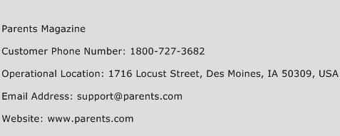 Parents Magazine Phone Number Customer Service