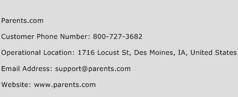 Parents.com Phone Number Customer Service