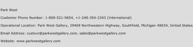 Park West Phone Number Customer Service