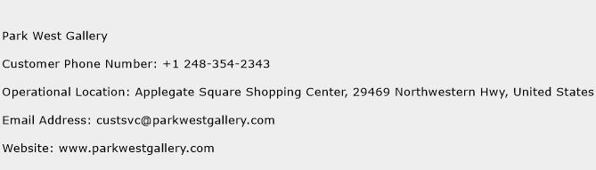 Park West Gallery Phone Number Customer Service