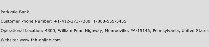 Parkvale Bank Phone Number Customer Service