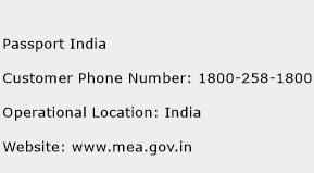 Passport India Phone Number Customer Service