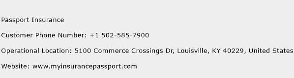 Passport Insurance Phone Number Customer Service